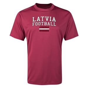 Latvia Football Training T-Shirt (Maroon)