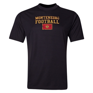 Montenegro Football Training T-Shirt (Black)