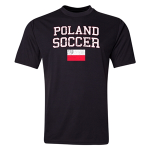 Poland Soccer Training T-Shirt (Black)