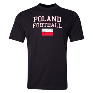 Poland Football Training T-Shirt (Black)