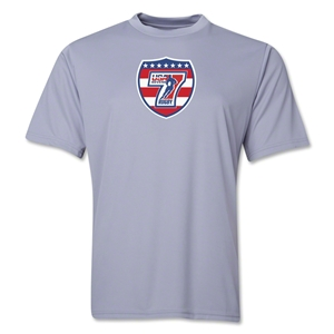 USA Sevens Rugby Performance T-Shirt (Gray)