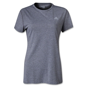 adidas Women's Ultimate Workout Crew T-Shirt (Dk Grey)