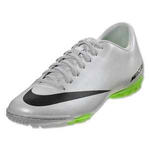 Nike Mercurial Victory IV TF (Metallic Platinum/Electric Green)