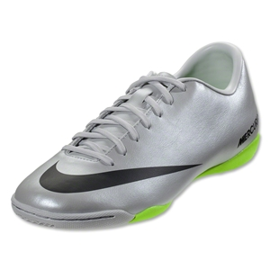 Nike Mercurial Victory IV IC (Metallic Platinum/Electric Green)