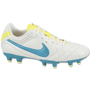 Nike Women's Tiempo Natural IV LTR FG (Summit White/Electric Yellow)