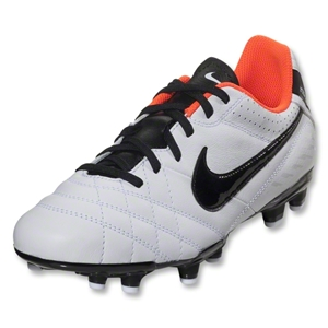 Nike Tiempo Natural IV LTR FG Junior (White/Total Crimson/Black)