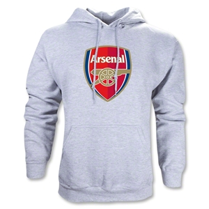 Arsenal Crest Hoody (Ash Gray)