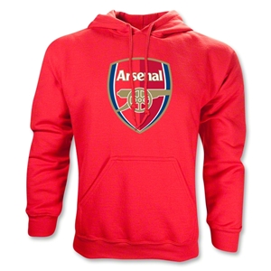 Arsenal Crest Hoody (Red)