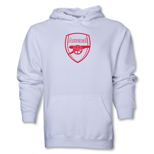 Arsenal Crest Hoody (White)