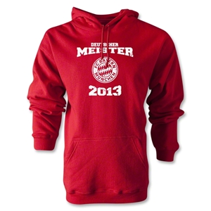 Bayern Munich 2013 Distressed Deutscher Meister Hoody (Red)