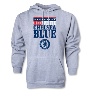 Chelsea Red White and Blue Hoody (Gray)