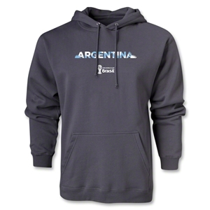 Argentina 2014 FIFA World Cup Brazil(TM) Men's Palm Hoody (Dark Grey)