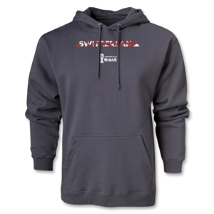Switzerland 2014 FIFA World Cup Brazil(TM) Men's Palm Hoody (Dark Grey)