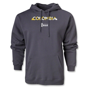 Colombia 2014 FIFA World Cup Brazil(TM) Men's Palm Hoody (Dark Grey)