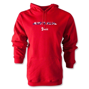 Australia 2014 FIFA World Cup Brazil(TM) Men's Palm Hoody (Red)