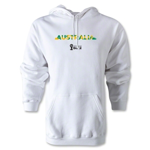 Australia 2014 FIFA World Cup Brazil(TM) Men's Palm Hoody (White)