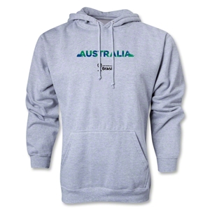 Australia 2014 FIFA World Cup Brazil(TM) Men's Palm Hoody (Ash Gray)