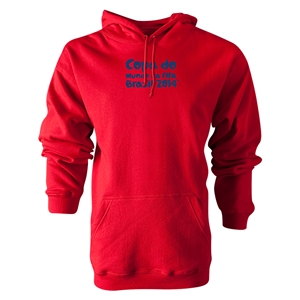 2014 FIFA World Cup Brazil(TM) Portugese Logotype Hoody (Red)