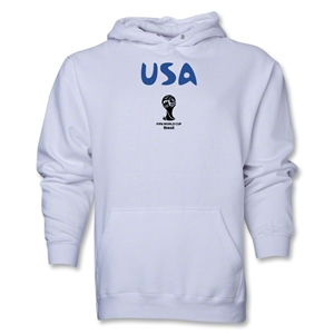 USA 2014 FIFA World Cup Brazil(TM) Men's Core Hoody (White)