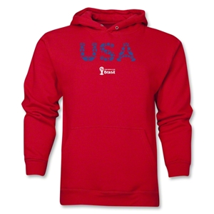 USA 2014 FIFA World Cup Brazil(TM) Men's Elements Hoody (Red)