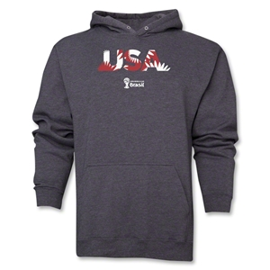 USA 2014 FIFA World Cup Brazil(TM) Men's Palm Hoody (Dark Grey)