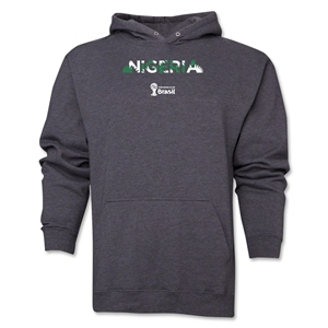 Nigeria 2014 FIFA World Cup Brazil(TM) Men's Palm Hoody (Dark Grey)