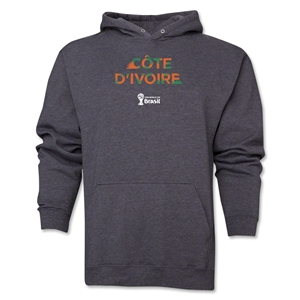 Cote d'Ivoire 2014 FIFA World Cup Brazil(TM) Men's Palm Hoody (Dark Grey)