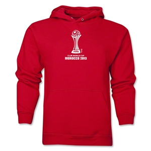 FIFA Club World Cup Morocco 2013 Men's Official Emblem Hoody (Red)