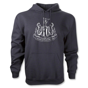 Newcastle United Distressed Crest Hoody (Black)