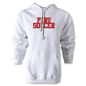 Peru Soccer Supporter Hoody (White)