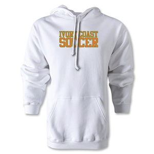 Ivory Coast Soccer Supporter Hoody (White)