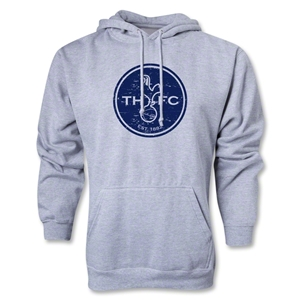 Tottenham Distressed Logo Hoody (Ash Gray)