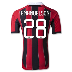 AC Milan 12/13 EMANUELSON Authentic Home Soccer Jersey