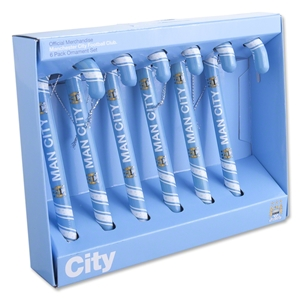 Manchester City Candy Cane Ornament (Six Pack)