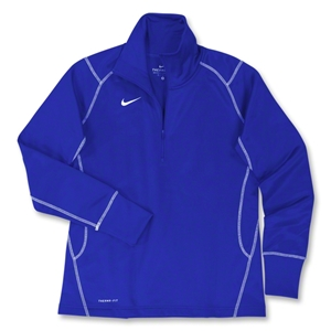 Nike Women's 1/4 Zip Performance Thermal Top (Royal)