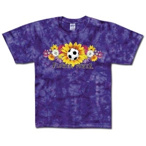 Flower Power Tye Dye Womens T-Shirt