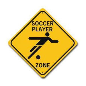 Boy Soccer Zone Sign