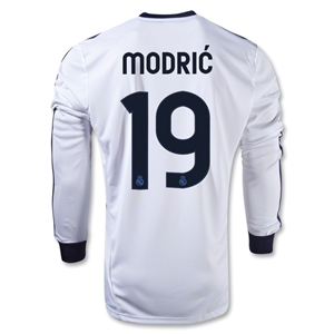 Real Madrid 12/13 MODRIC LS Home Soccer Jersey
