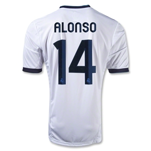 Real Madrid 12/13 ALONSO Youth Home Soccer Jersey