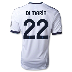 Real Madrid 12/13 DI MARIA UCL Home Soccer Jersey