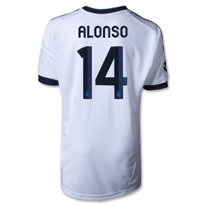 Real Madrid 12/13 ALONSO Youth UCL Home Soccer Jersey