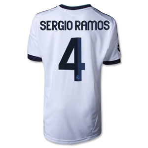 Real Madrid 12/13 SERGIO RAMOS Youth UCL Home Soccer Jersey