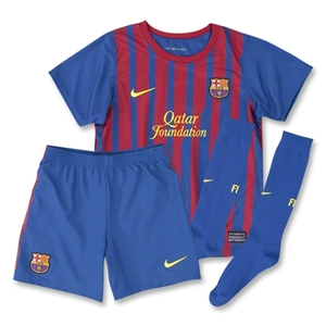 Barcelona 11/12 Home KIDS Soccer Kit