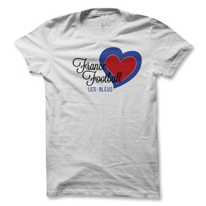 Objectivo France Heart Women's Soccer T-Shirt (White)