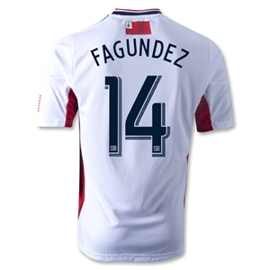 New England Revolution 2013 FAGUNDEZ Authentic Secondary Soccer Jersey