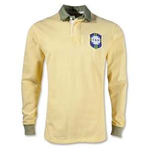 Brazil Long Sleeve Rugby Top (Yellow)