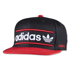 adidas Originals Heritage Snapback Hat (Blk/Red)