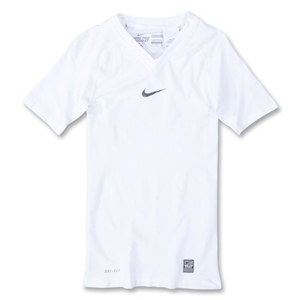Nike Pro Combat Hypercool Seamless Compression Top (White/Gray)