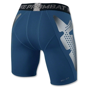 Nike Pro Combat Hyperstrong Slider Short (Blue)