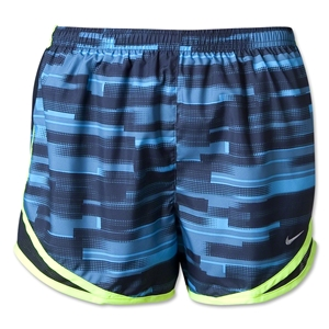 Nike Women's Printed Tempo Short (Navy/Yellow )